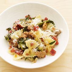 Weight Watchers Bowtie Pasta with Sausage and Escarole: 6 Points+