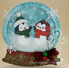 Kaleidoscopic Sparkles: Snow Globe Shaker Christmas Card~ kaleidoscopicsparkles.blogspot.com  So cute!!  :)