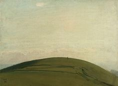 William Nicholson. 'The Downs, Rottingdean'. Oil on canvas board. 1909.