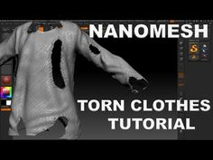 EASY ZBRUSH - TORN CLOTHES WITH NANOMESH IN ZBRUSH 4r7 - YouTube