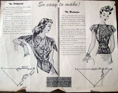 DIY Easy Vintage Triangle Tops - FREE Sewing Pattern and Tutorial