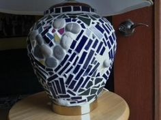 Free Patterns Mosaic Stepping Stones | mosaic lamp i attended a mosaic workshop in saskatchewan over the ...