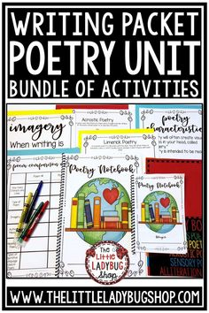 This Poetry Unit Notebook is perfect to help you grow your students as poets and poem writers! This is my favorite genre to teach and you truly see students light up when they understand and learn to LOVE it!  #poetryunit #poetrywriting #focusedpoetry #poetryanalysis #poetry4thgrade #poetrynotebook