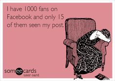 I have 1000 fans on Facebook and only 15 of them seen my post.