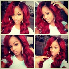 Red hair girl; Cute hair.. Just wish I was Brave enough to rock this hair color. I first got inspired when Rihanna had that similar hair color in her video with nicki minaj