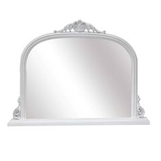 Abrielle French Style White Overmantle Mirror