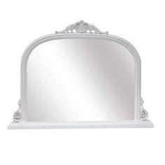 Abrielle French Style White Overmantle Mirror - La Maison Chic