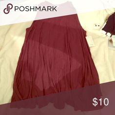 Maroon cotton shift dress Super cozy maroon-purple sleeveless cotton shift dress. Runs large, never been worn Tobi Dresses Midi
