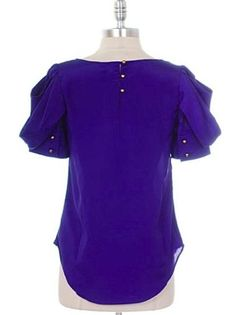 Royal Blue Pleated Shoulder Top - $20.00 : FashionCupcake, Designer Clothing, Accessories, and Gifts