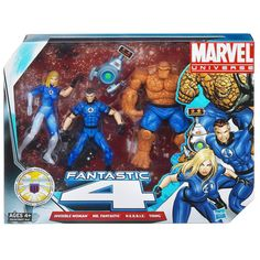 Regular Fantastic Four box-set for the 3.75 action figures by Hasbro in the Marvel Universe Collection.