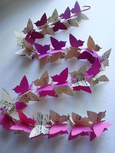 3D Butterfly Garland  Music Sheets & Purple by youngheartslove, $12.95
