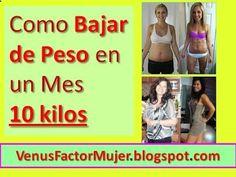 Como Bajar de Peso en un Mes 10 kilos: Dieta y Ejercicios - Sistema Venus Factor en Español Programa para Adelgazar y Quemar Grasa solo Mujeres. #Bajar10Kilos #Perder10Kilos #Adelgazar10Kilos
