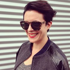 Introducing @Garance Doré and her new short haircut.