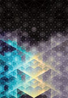 The dots really invoke a sense that there's more to the objects than just a physical existence. Beautiful geometric artwork #Inspiration #AndyGilmore #SacredGeometry
