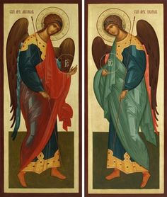 Byzantine Icons, Byzantine Art, Religious Icons, Religious Art, Religious Paintings, Archangel Michael, Orthodox Icons, Angel Art, St Michael