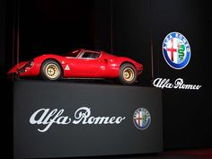 The 1967 Alfa Romeo 33 Stradale is on display as part of the announcement of the 2015 Alfa Romeo 4C Spider during the 2015 North American International Auto Show at Cobo Center on Monday, Jan.12, 2015 in Detroit. The new vehicle is modeled after this classic racing car.