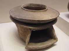 Pottery Cauldron and Stove, Yangshao Culture (c. 5000-3000BC)