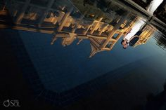 Riu Palace Riviera Maya - Destination Wedding: Mexico - Wedding by Riu - Bride and groom reflection