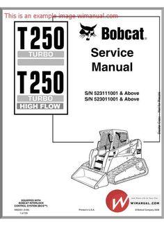Bobcat Skid Steer Loader Type 853, 853H: Workshop Service