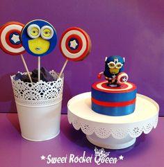 Captain Minion: topper and cookies! Biscotti e topper di Capitan Minion!