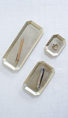 Japanese Brass Desk Trays, $50