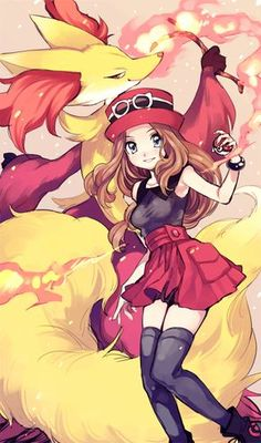 Delphox and Serena by Amezawa Koma<<<this is my combo in X right now, love my Delphox