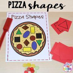 Pizza shape game perfect for a pizza theme in a preschool, pre-k, and kindergarten classroom. Pre K Activities, Preschool Learning Activities, Preschool Lessons, Preschool Classroom, Preschool Activities, Kids Learning, Pre K Games, Preschool Food Crafts, Preschool Shapes