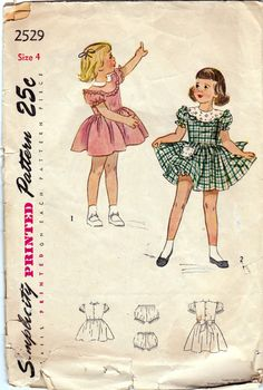 1940s Vintage Toddlers sewing pattern by allthepreciousthings, $10.00