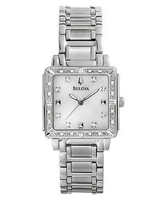 Mine is like this but has gold accents. I love it!! Bulova Watch, Women's Stainless Steel Bracelet 25mm 96R107