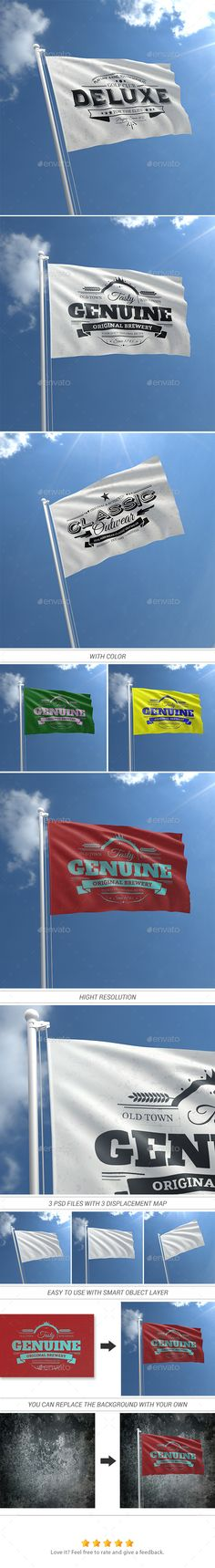 Realistic Flag Mock-Ups #flagmockup #design Download: http://graphicriver.net/item/realistic-flag-mockups/11594872?ref=ksioks