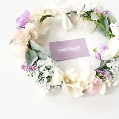 Custom silk flower crown for a beautiful Summerblossom bride. We love making to order, email us for details - hello@summerblossom.com.au