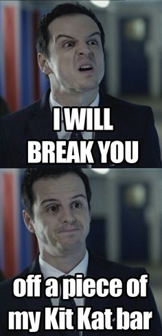 Hehe :) misunderstood moriarty :P misleading moriarty