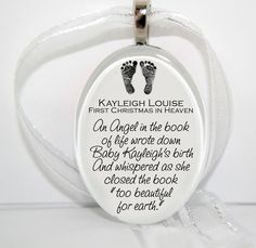 First Christmas in Heaven. Great gift idea for anyone who has lost a child, miscarriage, stillbirth.