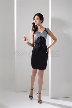 Robe de cocktail mini/court V col Colonne/Gaine en Taffetas http://fr.SzWedress.com/Robe-de-cocktail-mini-court-V-col-Colonne-Gaine-en-Taffetas-p21547.html