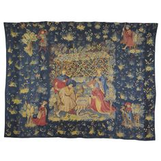 A Medieval Falconry Tapestry Panel, South Netherlands first half century, Estimate — GBP SOLD. Medieval Tapestry, 15th Century, Fine Furniture, Modern Art, Vintage World Maps, Outdoor Blanket, Auction, Ceramics, Rugs