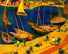 """André Derain - """"Port de Peche, Collioure"""" - 1905 - France."""