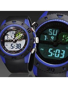 Männer schwarz Runde Zifferblatt Silikonband Japan-Bewegung Mode Tauchen Sportuhr Armbanduhr (farbig sortiert) - http://uhr.haus/weiq/maenner-schwarz-runde-zifferblatt-silikonband-15