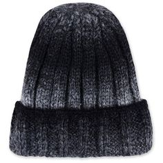 f7d430c6848 Womens Warm Gradient Color Winter Knitted Beanie Hat Black (£3.26) ❤ liked  on