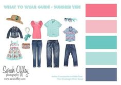 what to wear summer family photos - Google Search