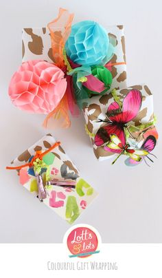 DIY - colourful gift wrapping