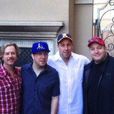 David Spade, Nick Swardson, Adam Sandler, and Kevin James.