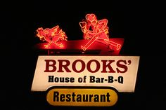 Brooks' House of Bar-B-Q in Oneonta, NY. Largest BBQ pit east of Mississippi. You smell it from miles away.