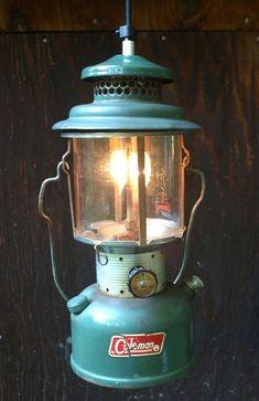 1972 Coleman Lantern - Pendant Light (Converted to electric). $115.00, via Etsy.