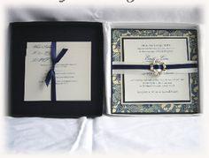 Upscale Wedding Invitations | Orchid Dream Couture Luxury Wedding Invitation in Box with Orchid ...