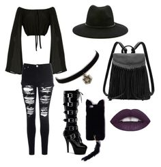 """On Wednesdays we wear black"" by venessawatson ❤ liked on Polyvore featuring Forever 21, Glamorous, Pleaser, Missguided, women's clothing, women's fashion, women, female, woman and misses"