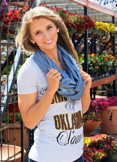 TATTERED CHAMBRAY INFINITY SCARF