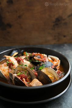 San Francisco-style cioppino Italian fish stew, with fresh halibut ...