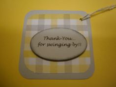 Baby Elephant  Thankyou Tieon Tags by whimzypartycreations on Etsy, $6.00