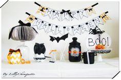 My Halloween table ^^  Enjoy decorate  #halloween #diy #tuto  #idée déco    #UPCYCLE