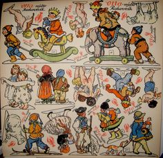 "Otta Rakovnik CHRISTMAS CUT-OUTS published for advertising soap for Otta Rakovnik in 1928 and 1930. Printed by Prumyslova Tiskarna Praha (Industrial Printing House Prague).  .Drawn by Marie Fischerové Kvěchové, 1892-1984  On the back is the heading ""Jsme přáteli vaší čistoty"" (we are friends of your cleanliness) and pics of various soaps."
